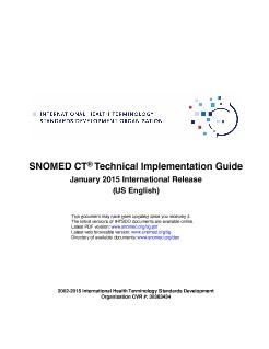 SNOMED CT Change Management Guide - Change Management Guide